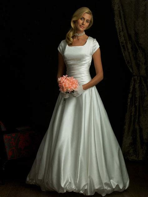 simple modest ball gown wedding dress  sleeves