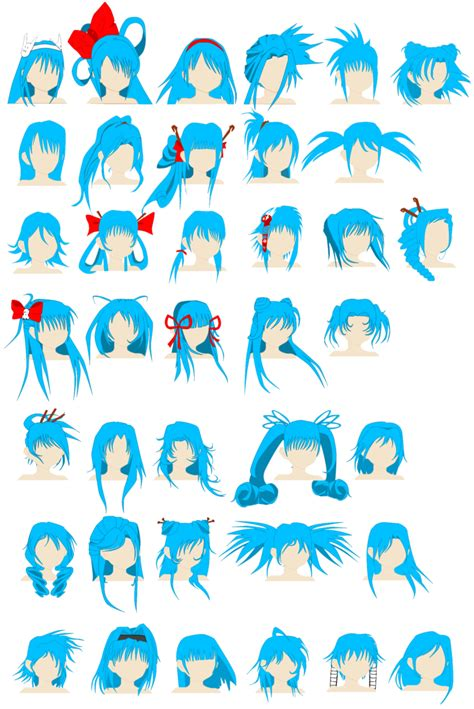 cute hairstyles anime cute hairstyles by spellcaster723 on deviantart