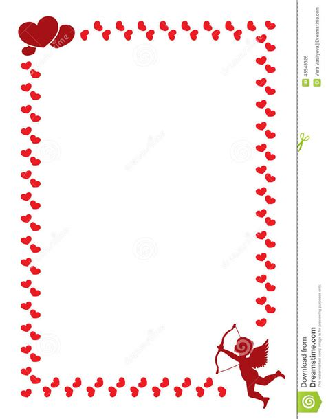 Letter For Valentines Day A Border For The S Day Stock Vector Image 48548326