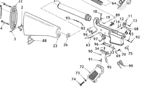 ar 15 parts diagram lower receiver index of ar15
