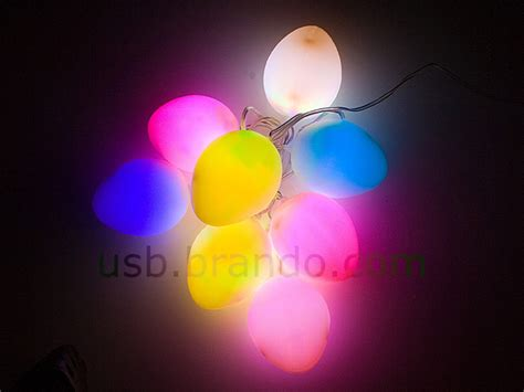 usb easter egg decor light 8 led lights