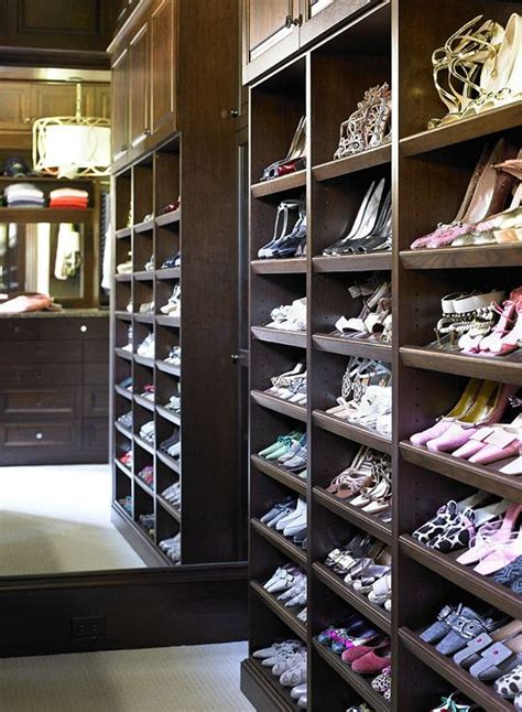 angled shoe shelves closets