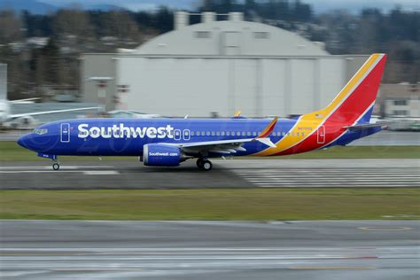 south west airlines r agent boeing 737 max 8 southwest airlines n8705q first