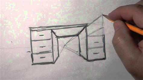 How To Draw 3d Furniture by How To Draw 3d Furniture Drawing Sketch Library