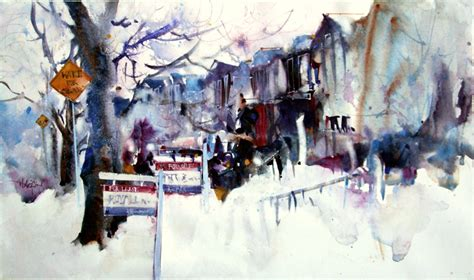 herry arifin watercolour paintings urban watercolor art jobs