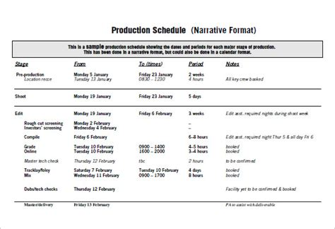 production plan template emmamcintyrephotographycom