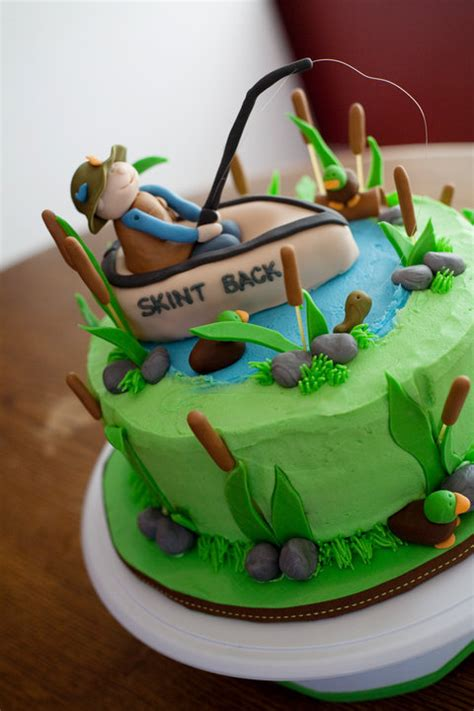 fishing boat birthday cake fishing boat and pond birthday cake lolo s cakes sweets
