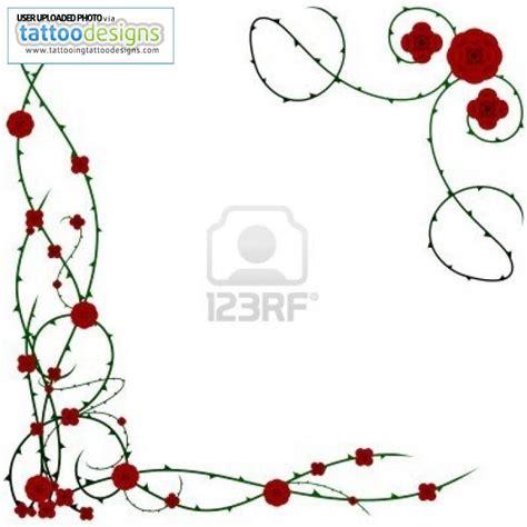 border rose tattoo borders designs cliparts co