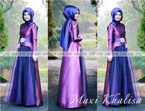 Set Brokat Tosca Ungu by Gamis Pesta Maxi Khalisa P 616