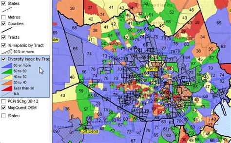 houston map ethnicity neighborhood diversity census tract houston