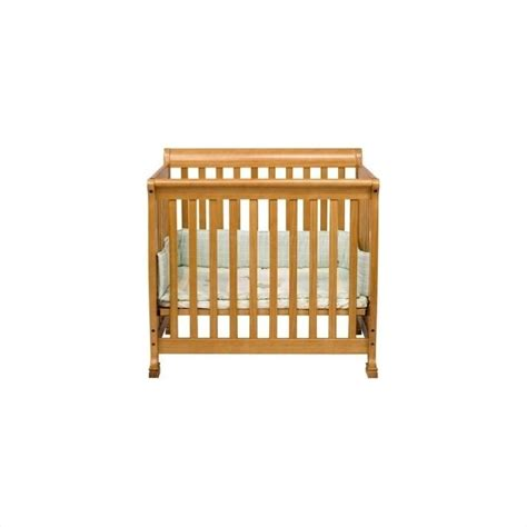 Kalani Mini Crib Davinci Kalani Convertible Mini Wood Crib In Honey Oak Finish M5598o