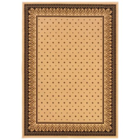 Natco Area Rugs Natco Sapphire Fleur De Lis Ivory 5 Ft 3 In X 7 Ft 7 In