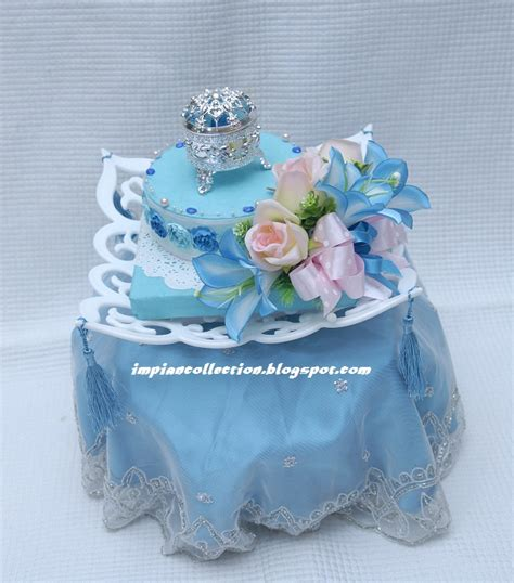 Armaggeddon Fuze 7 Putih Biru deco by impian collection gubahan hantaran set biru putih