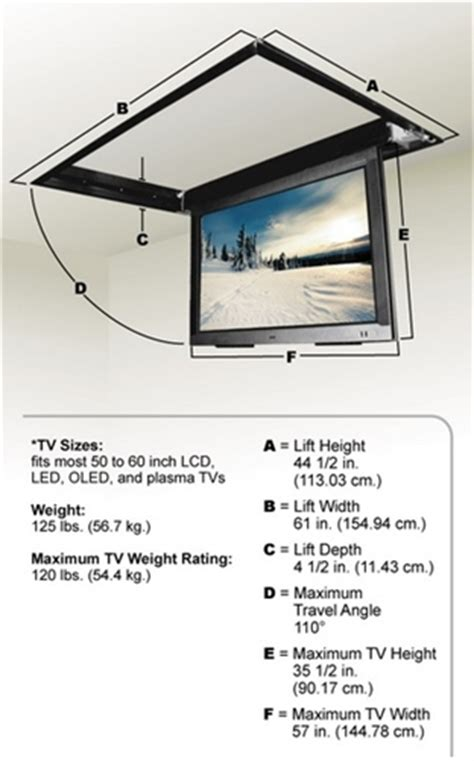 swing drop down motorized drop down ceiling tv bracket