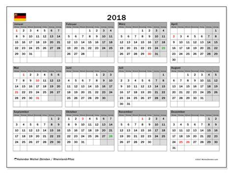 Kalender 2018 Mit Feiertagen Rheinland Pfalz Kalender Zum Ausdrucken 2018 Feiertage In Rheinland