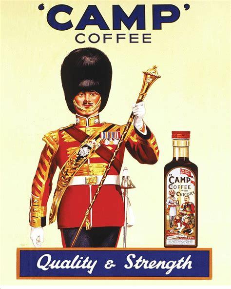 Camp Coffee   Metal Advertising Wall Sign   Retro Art