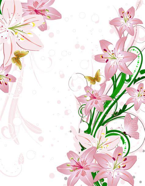 design elements flower shop set of with flowers elements background vector 01 vector