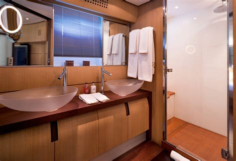 electra superyacht master cabins bathroom yacht charter the stunning 28m pershing z2 in greece luxury