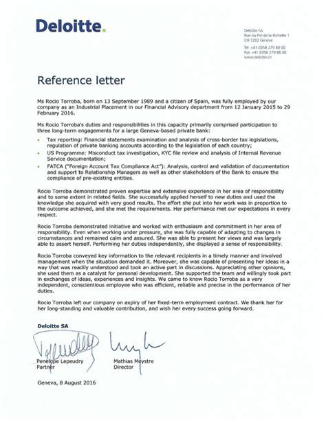 Deloitte Recommendation Letter