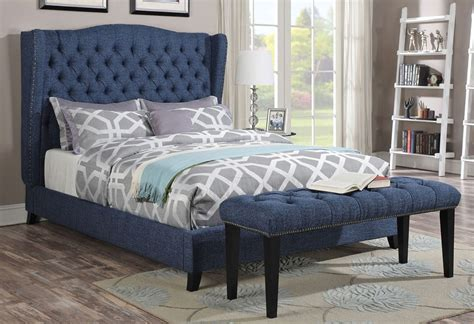 upholstered headboard with wings ersilia upholstered bed wing headboard