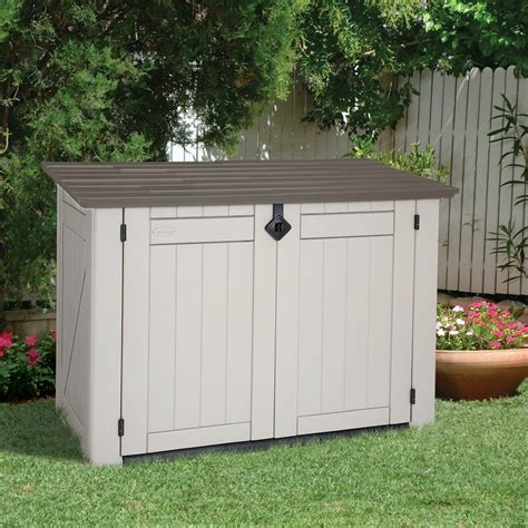 keter  sq ft store   xl shed lawn garden