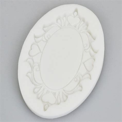 baroque vintage style ornate mirror frame silicone mould