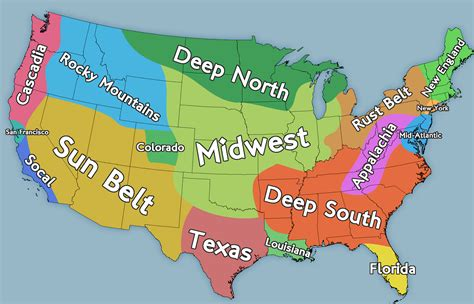 regions of usa map what are the quot regions quot of america and how do they differ
