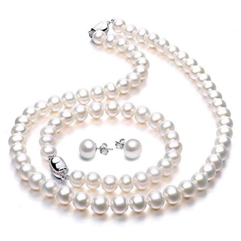 Set Pearls Necklace freshwater cultured pearl necklace jewellery sets wedding anniversary gifts for viki