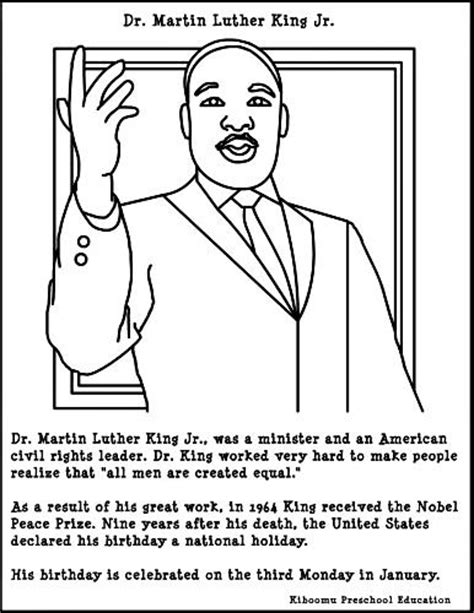 Martin Luther King Coloring Pages For Kindergarten martin luther king jr coloring pages fashion