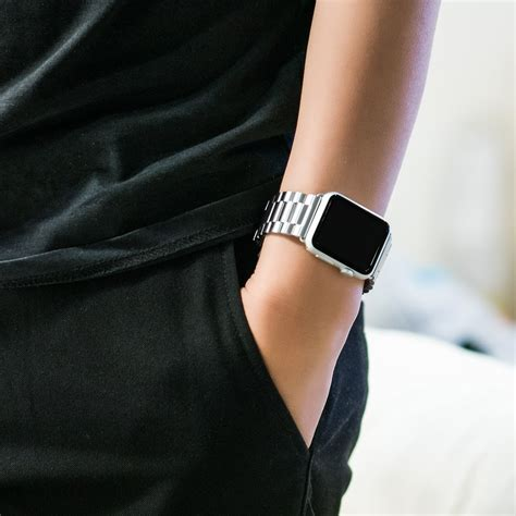 Stuff Apple 42mm Hoco 3 Pointer Style Stainless Steel Band hoco stainless steel link bracelet apple 42mm silver