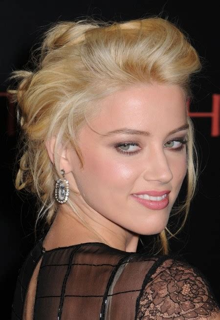 hairstyles for poofy black hair amber heard s poofy updo easy updos