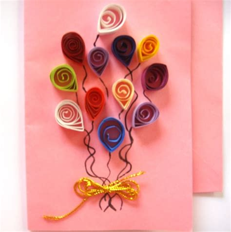 Handmade Arts And Crafts Ideas - handmade quilled birthday cards ideas ideas arts and