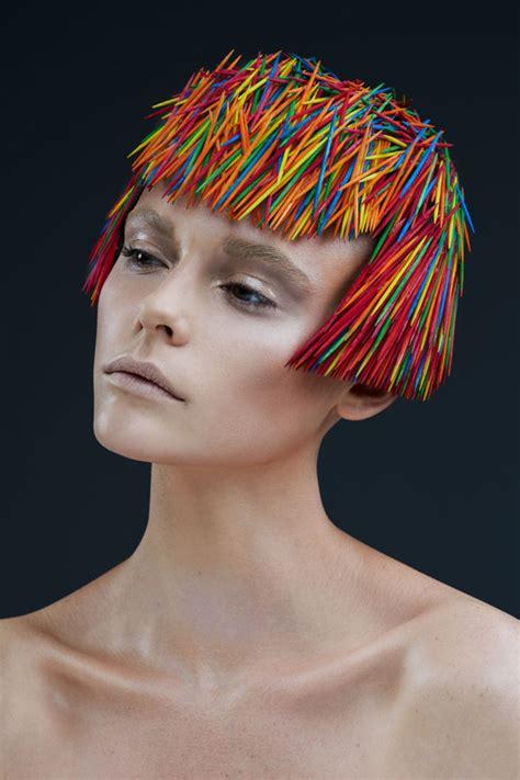 hair art prickly toothpick headdress photography hair photography