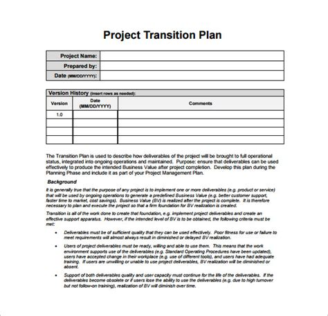 business process transition plan template business process transition plan template adktrigirl