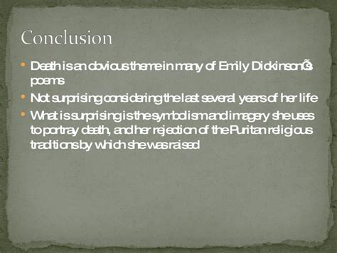 emily dickinson biography ppt death in emily dickinson s poetry