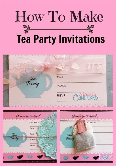 vintage bridal shower tea party invitation template download print