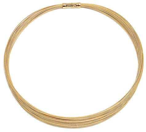 multi strand 14k gold multi strand necklace with 20 cables 18 quot sarraf