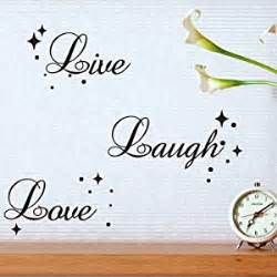fancy writing live laugh love quote wall art vinyl sticker writing in form of a cake cut it out wall stickers uk and