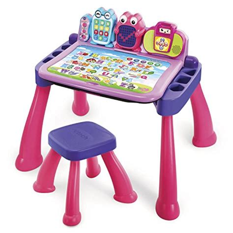 Vtech Touch And Learn Activity Desk Deluxe Pink Ebay