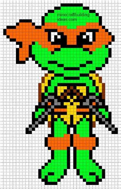 minecraft pixel art templates teenage mutant ninja turtle