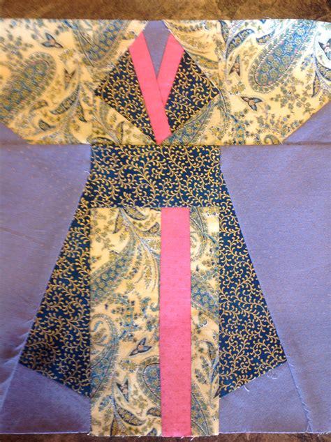 kimono pattern block paper piece kimono quilt block quilts pinterest
