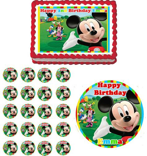 mickey mouse clubhouse edible birthday party cake topper cupcake decorations ebay