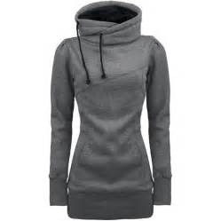 Long sleeves hooded draw string pockets beam waist korean style casual