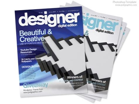 design magazine psd free blue magazine cover design psd print template psd file