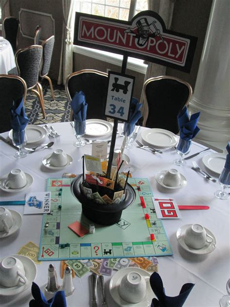 monopoly themed events monopoly centerpiece wedding ideas pinterest