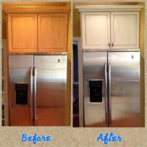 Paint Glaze Kitchen Cabinets by From Honey Maple Wood Cabinets To Antique White