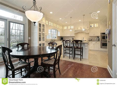 kitchen with eating area and island stock photography kitchen and eating area stock photo image 12656430