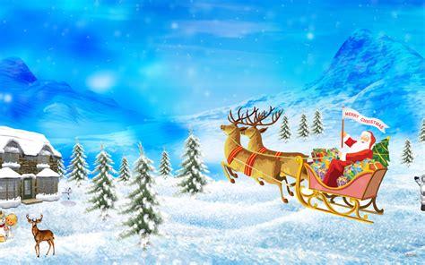 santa merry christmas wallpapers hd wallpapers id