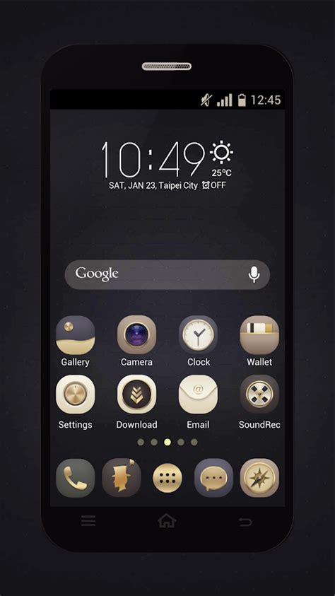 gold winterboard themes gold icons pro cool icon pack 1 2 9 apk download