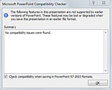 format video compatible powerpoint how to determine whether a powerpoint 2010 presentation is
